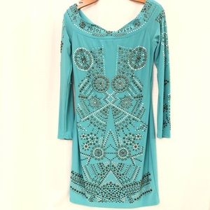 NWT LG Turquoise Dress with Sequins
